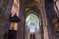 圣欧班教会在Guerande,法国 图库摄影