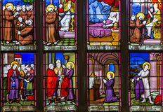 圣欧班教会在Guerande,法国 免版税库存照片