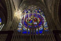 圣欧班教会在Guerande,法国 库存图片