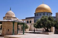 圣殿山和AlAqsa清真寺在耶路撒冷以色列 库存照片