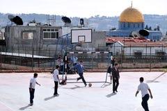 圣殿山和AlAqsa清真寺在耶路撒冷以色列 库存图片