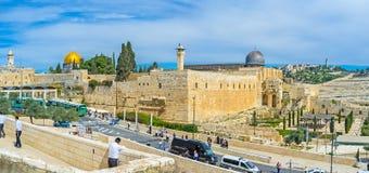 圣殿山的墙壁 图库摄影