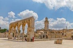圣殿山老建筑学耶路撒冷 免版税库存图片