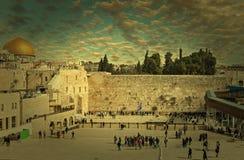 圣殿山西部墙壁在耶路撒冷 库存图片