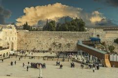 圣殿山,耶路撒冷古老西部墙壁  免版税库存照片