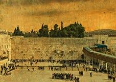 圣殿山,耶路撒冷古老西部墙壁  库存照片