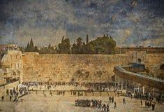 圣殿山,耶路撒冷古老西部墙壁  库存图片