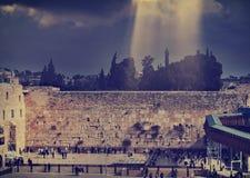 圣殿山,耶路撒冷西部墙壁  免版税库存照片