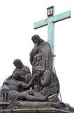 圣母怜子图 免版税库存照片
