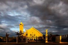 圣母无染原罪瞻礼大教堂在帝力东帝汶 免版税图库摄影