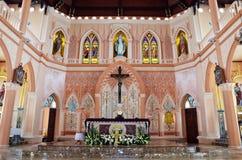 圣母无染原罪瞻礼多数美丽的教会在庄他武里 免版税库存照片