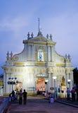 圣母无染原罪瞻礼大教堂,本地治里市,印度 免版税图库摄影