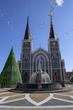 圣母无染原罪瞻礼庄他武里大教堂  免版税库存图片