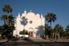 圣母无染原罪瞻礼教会,阿霍,亚利桑那,美国 免版税库存照片