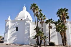 圣母无染原罪瞻礼教会,阿霍,亚利桑那 图库摄影