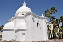 圣母无染原罪瞻礼教会,阿霍,亚利桑那 库存图片