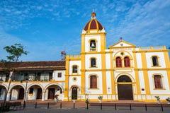 圣母无染原罪瞻礼景色的教会 库存照片
