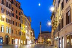 圣母无染原罪瞻礼的专栏,罗马,意大利 免版税库存照片
