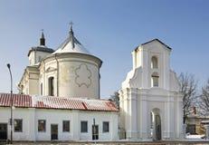 圣母无染原罪瞻礼的Bernardine教会在斯洛尼姆 迟来的 免版税库存图片