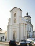 圣母无染原罪瞻礼的Bernardine教会在斯洛尼姆 迟来的 库存照片