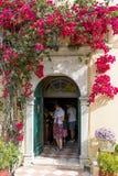 圣母玛丽亚修道院在Paleokastritsa 库存照片