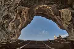 圣母玛丽亚和圣西蒙坦纳大教堂,圣徒Samaan坦纳修道院,开罗,埃及 库存图片