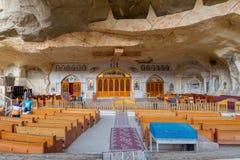圣母玛丽亚和圣西蒙坦纳大教堂 最大圣徒Samaan七个教会坦纳修道院,开罗,埃及 免版税库存照片
