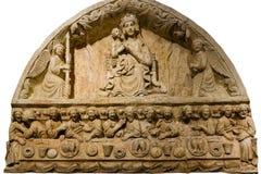 圣母玛丽亚和最后的晚餐 驳船 普利亚或普利亚 意大利 免版税库存照片