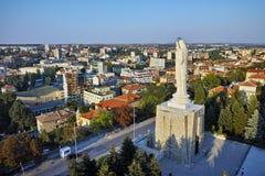 圣母玛丽亚在世界上,市的最大的纪念碑哈斯科沃 库存照片