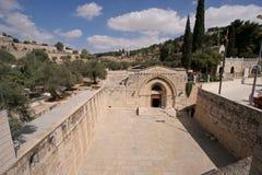 圣母玛丽亚坟墓的教会  免版税库存照片