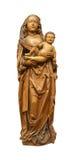 圣母玛丽亚小耶稣雕塑 免版税图库摄影