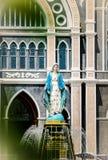 圣母玛丽亚教会17/04/2017的雕象 免版税库存图片