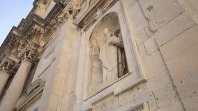 圣母玛丽亚的做法大教堂或杜布罗夫尼克大教堂、天主教大教堂和主教管区的位子  影视素材