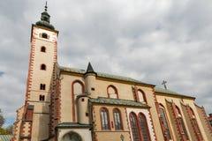 圣母玛丽亚的做法教会在Banska Bystrica,斯洛伐克 免版税库存图片