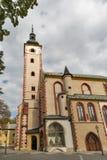圣母玛丽亚的做法教会在Banska Bystrica,斯洛伐克 库存图片