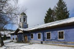 圣母玛丽亚的做法教会在Koprivshtitsa,索非亚地区历史镇  免版税库存图片