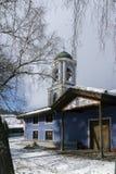 圣母玛丽亚的做法教会在Koprivshtitsa,索非亚地区历史镇  免版税库存照片
