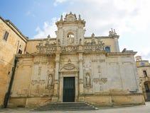 圣母玛丽亚的做法的大教堂在莱切,意大利 免版税库存照片