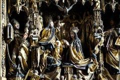 圣母玛丽亚的加冕 免版税库存图片