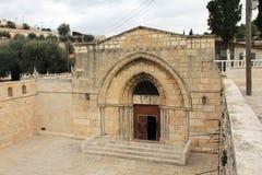 圣母玛丽亚的坟茔。耶路撒冷 库存照片