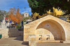 圣母玛丽亚的春天在拿撒勒,以色列 免版税库存照片