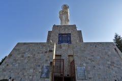 圣母玛丽亚的最大的纪念碑世界的在市哈斯科沃,保加利亚 库存图片