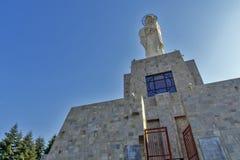 圣母玛丽亚的最大的纪念碑世界的在市哈斯科沃,保加利亚 库存照片