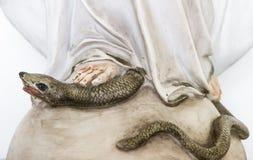 圣母玛丽亚的脚 免版税库存图片