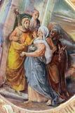 圣母玛丽亚的访问 库存图片