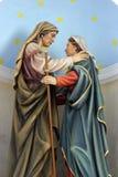圣母玛丽亚的访问 免版税库存图片
