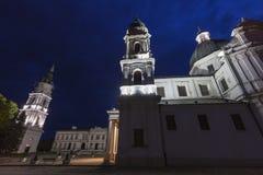 圣母玛丽亚的诞生的大教堂在Chelm,波兰 免版税图库摄影