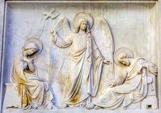 圣母玛丽亚耶稣天使雕象圣母无染原罪瞻礼专栏罗马 库存图片