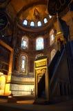 圣母玛丽亚耶稣马赛克圣索非亚大教堂 库存图片