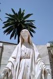 圣母玛丽亚雕象拿撒勒 免版税库存图片